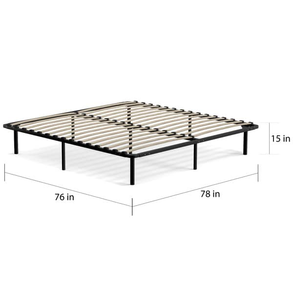 Incredible Slat Bed Frame King Handy Living King Size Wood Slat Bed Frame Free Shipping Today