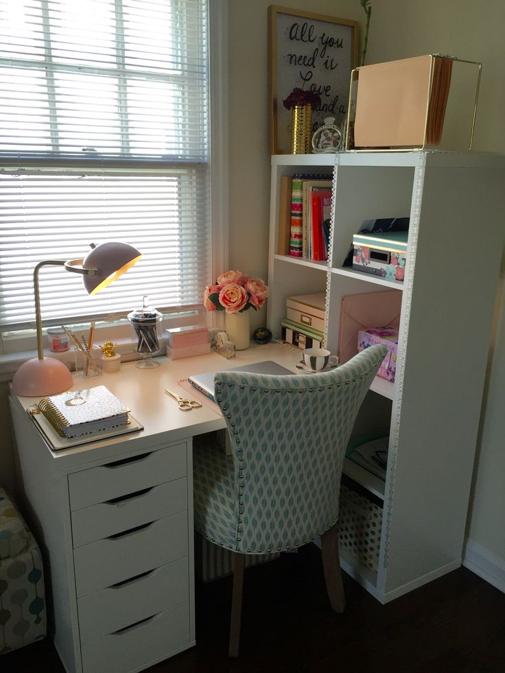 Incredible Small Desk With Drawers Ikea Image Result For Kallax Office Hack Home Sweet