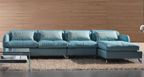Incredible Teal Blue Leather Sofa Modern Sectional Sofa Light Blue Color Sofa Bed Sectionals