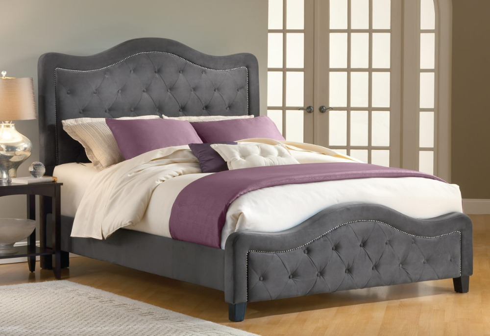 Incredible Tufted Headboard Bed Frame Chic Bed Frame With Cushioned Headboard Good Cheap Queen Bed