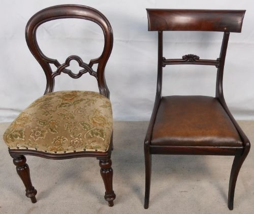 Incredible Victorian Dining Chairs Two Victorian Mahogany Dining Chairs 124927 Sellingantiquescouk