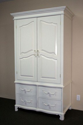 Incredible White Armoire With Drawers Wardrobe Armoire With Drawers Foter