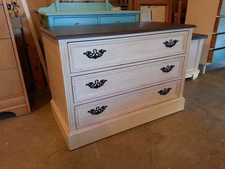 Incredible White Dresser With Brown Top 69 Best My Furniture Creations Laura Faye Creations Images On