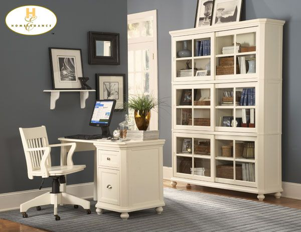 Incredible White Home Office Furniture Blue Grey Paint Color For Office With White Furniture Decorate