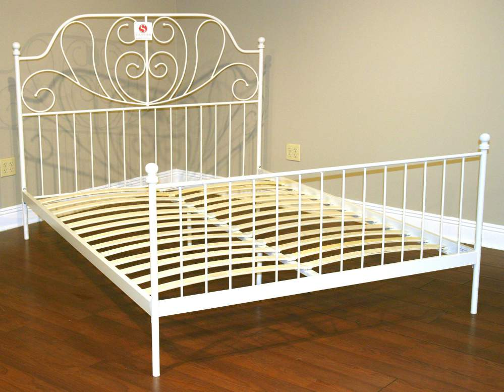 Incredible White Iron Headboard And Footboard Hamilton Falls King White Metal Headboard And Footboard Bed Buy In