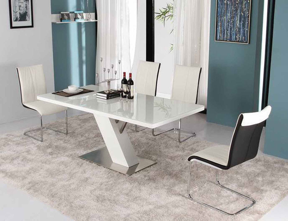 Incredible White Lacquer Dining Table Modern Modern White Lacquer Dining Table Modern Dining The Media News