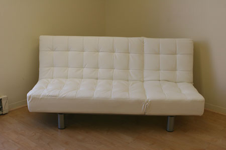 Incredible White Leather Futon Sofa Sofa Bed Contemporary Sofa Bed Modern Sofa Bed New York Ny