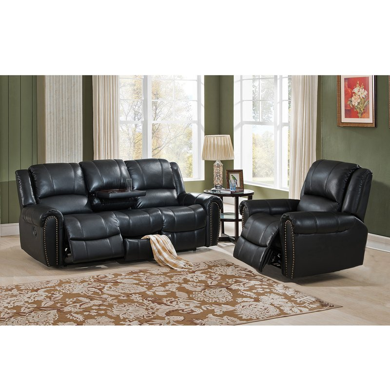 Innovative 2 Piece Leather Living Room Set Amax Houston 2 Piece Leather Living Room Set Wayfair