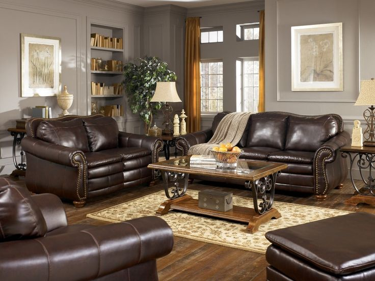 Innovative Ashley Brown Leather Sofa Best 25 Ashley Leather Sofa Ideas On Pinterest Neutral Basement