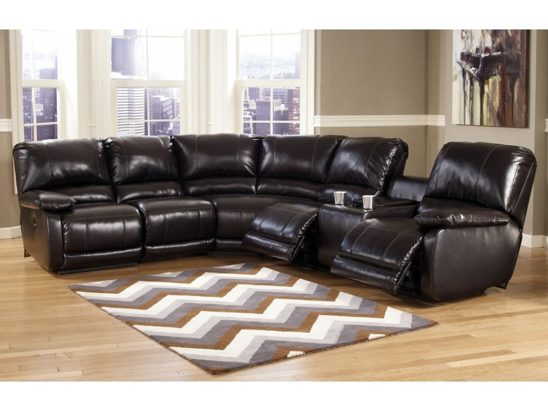 Innovative Ashley Furniture Leather Recliners Capote 4 Pc Power Reclining Sectional Ashley Furniture Orange