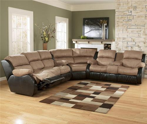 Innovative Ashley Furniture Reclining Sectional Ashley Furniture Presley Cocoa L Shaped Sectional Sofa With Full