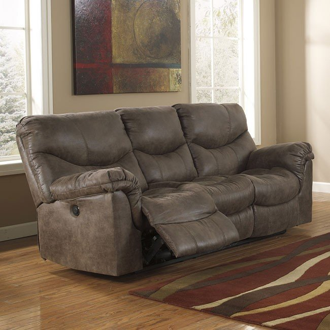 Innovative Ashley Furniture Reclining Sofa Alzena Gunsmoke Power Reclining Sofa Signature Design Ashley