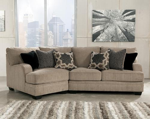 Innovative Ashley Two Piece Sectional Signature Design Ashley Katisha Platinum 2 Piece Sectional