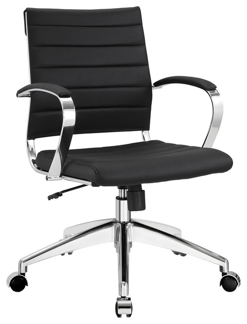 Innovative Black Leather Office Chair Aria Leather Office Chair Contemporary Office Chairs