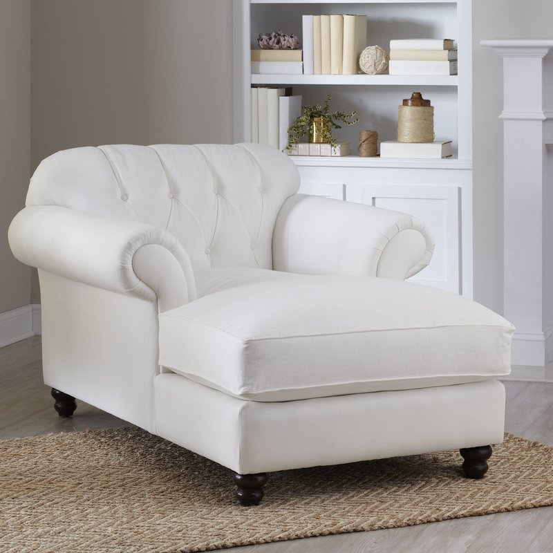 Innovative Blue Tufted Chaise Lounge Chaise Lounges Joss Main