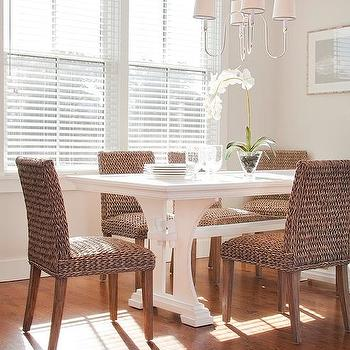 Innovative Brown And White Dining Chairs White Wicker Dining Chairs Design Ideas