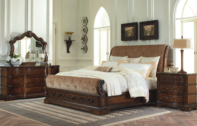 Innovative California King Tufted Sleigh Bed 3100br43063200x