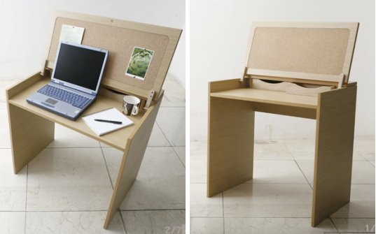 Innovative Compact Office Furniture Naomi Dean Gives Reclaimed Office Furniture New Life Inhabitat