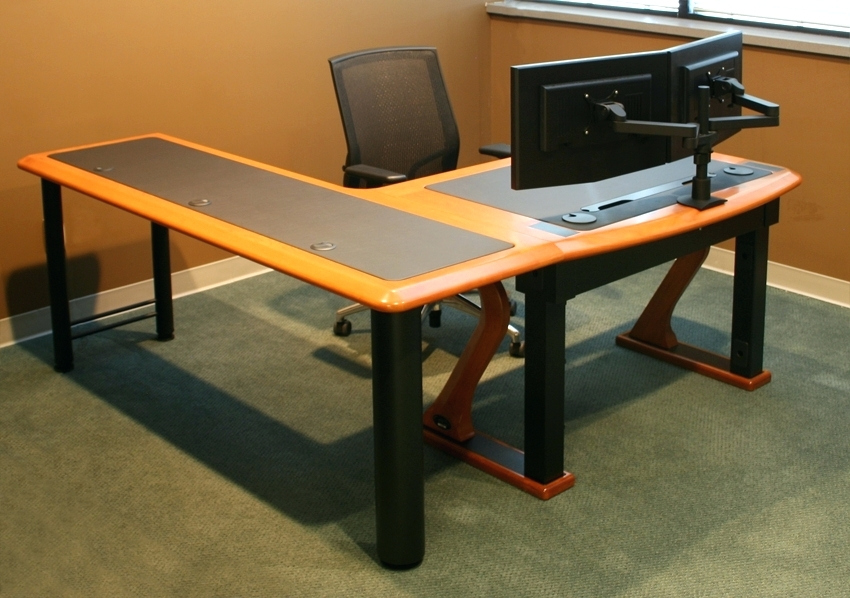 Innovative Corner Desk For Two Monitors Desk Corner Desk Dual Monitor Stand Dual Monitor Computer Desk