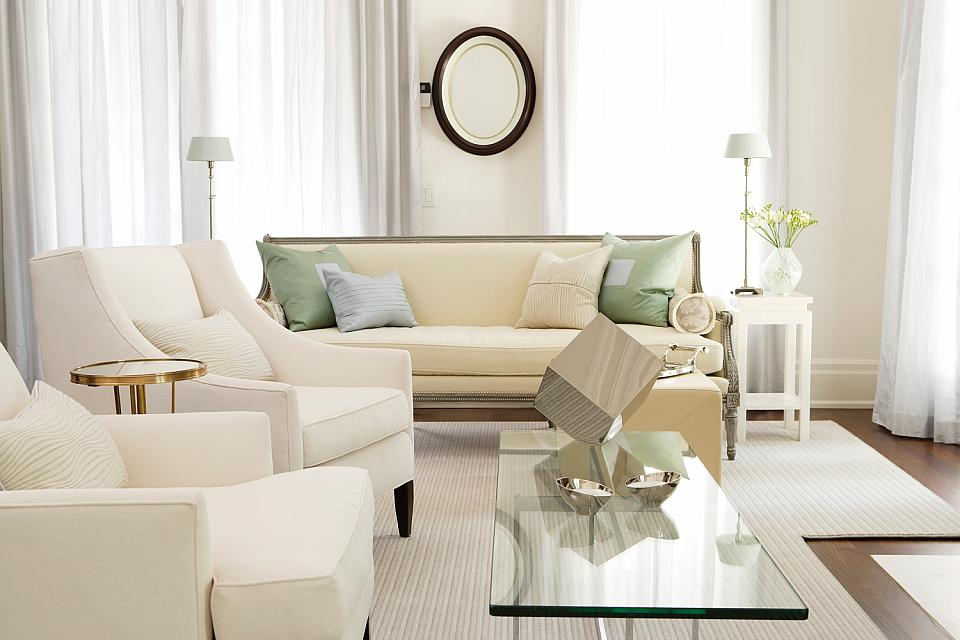Innovative Cream Living Room Furniture Decorating With White