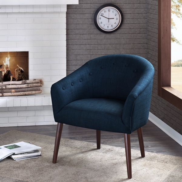Innovative Dark Blue Accent Chair Camilla Mid Century Navy Blue Accent Chair Free Shipping Today