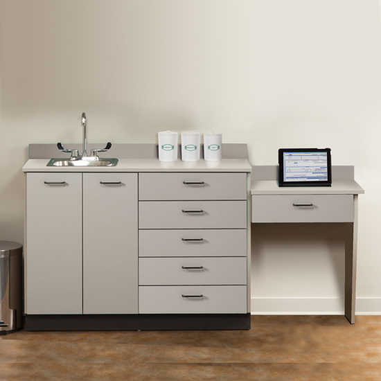 Innovative Desk And Cabinet Set Base Cabinet Set With 2 Doors 6 Drawers And Desk1 Quick Cabinets