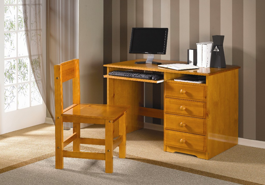 Innovative Desk With Chair Solid Honey Finish Students Desk With Chair Dream Rooms Furniture