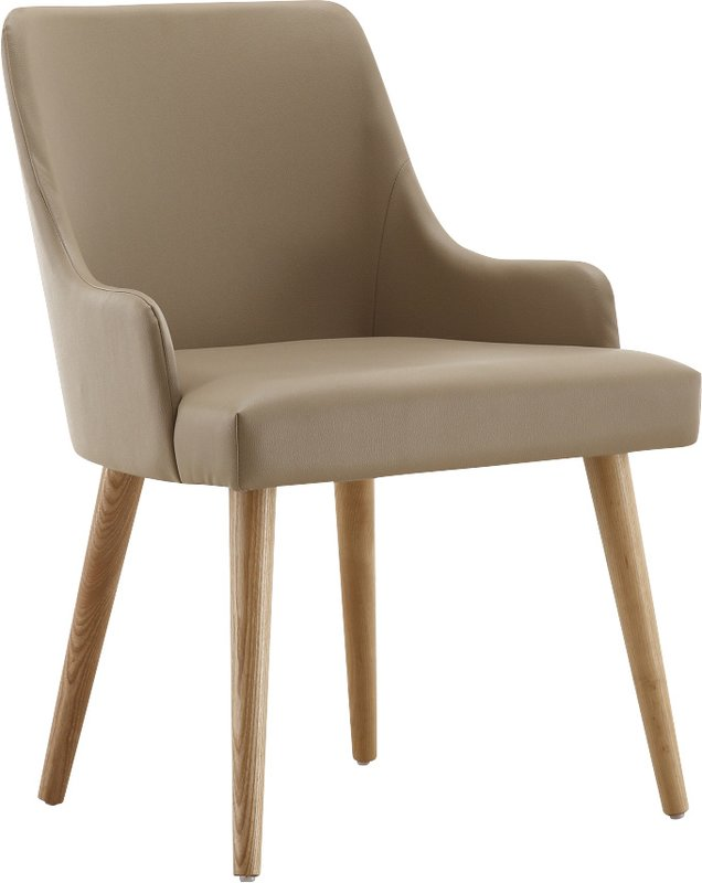 Innovative Dining Chair With Armrest Ceets Park Slope Genuine Leather Upholstered Dining Chair