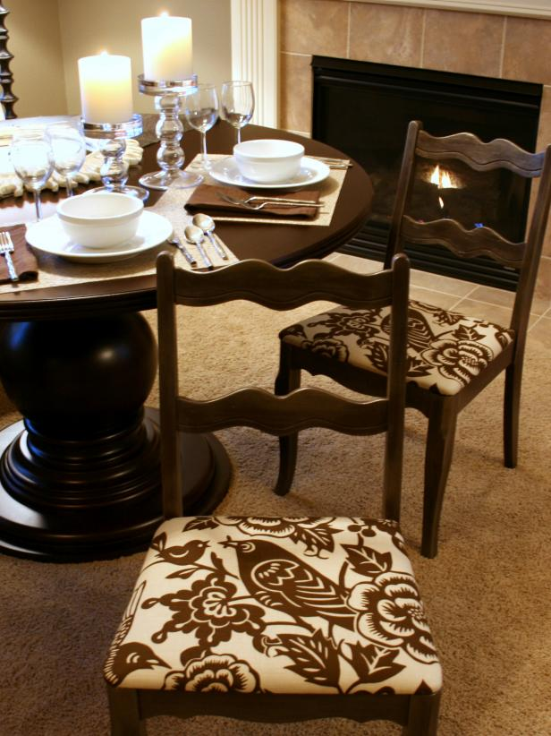 Innovative Dining Room Chair Cushions How To Re Cover A Dining Room Chair Hgtv
