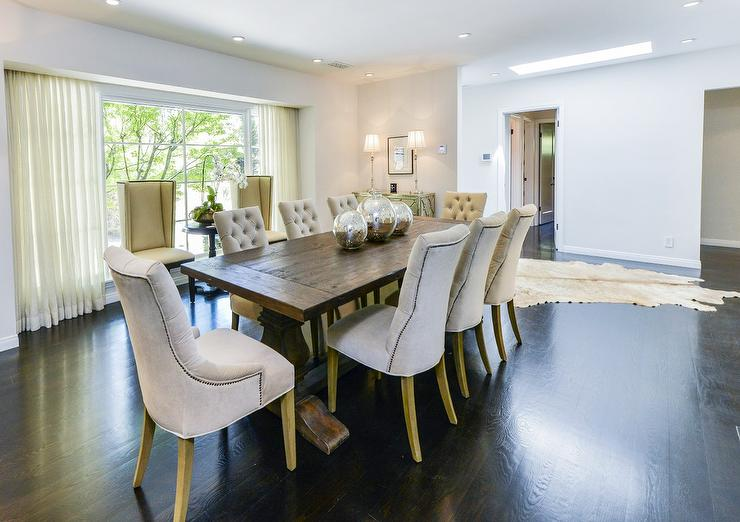 Innovative Dining Room Chairs With Studs Chairs Amazing Gray Tufted Dining Chairs Gray Tufted Dining Room