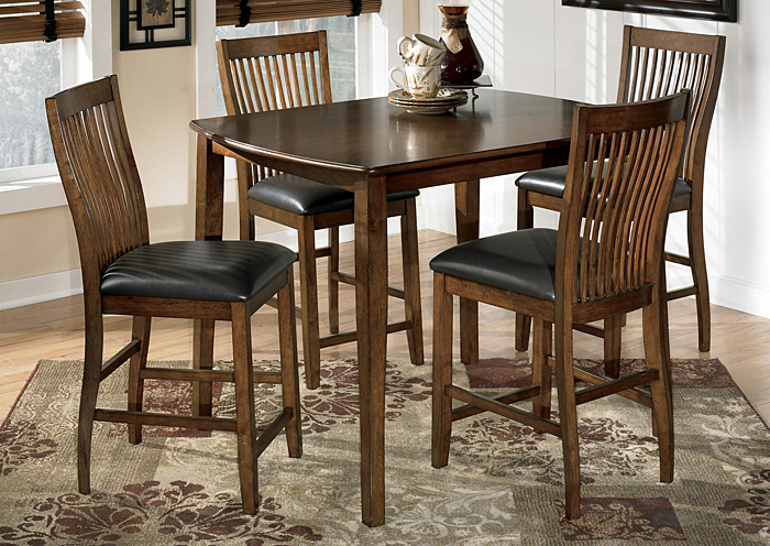 Innovative Dining Table And 4 Chairs Tucker Furniture Stuman Counter Height Dining Table W4 Chairs