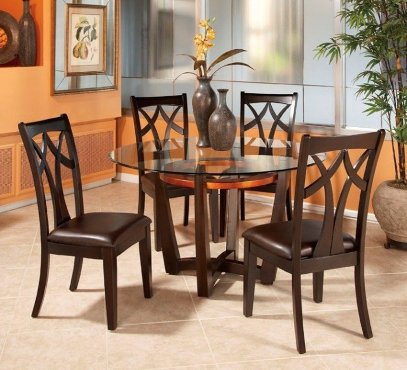 Innovative Dining Table And Chairs Solid Wood Round Dining Table For 4 Insurserviceonline