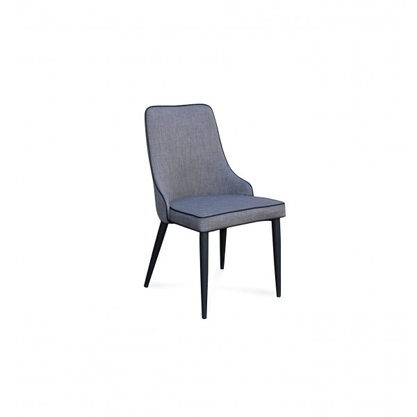 Innovative Fabric Dining Chairs With Black Legs Fabric Dining Chair Black Steel Leg