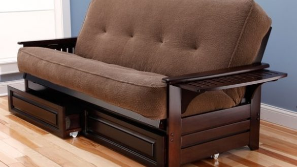 Innovative Futon Frame And Mattress Set Yosemite Queen Size Rustic Lodge Frame With Inner Spring Futon