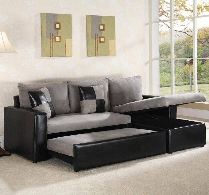 Innovative Gray Sectional Sofa Bed Black And Grey Sectional Sleeper Sofa S3net Sectional Sofas