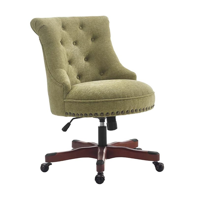 Innovative Green Office Chair Linon Sinclair Swivel Fabric Upholstered Office Chair In Green