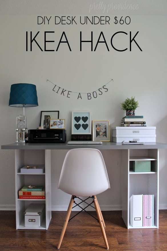 Innovative Ikea Build A Desk Ikea Hack Desk Diy For Under 60