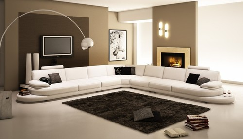 Innovative Large L Shaped Sectional Sofas Italian Leather Sectional Sofa Furniture In White Features L