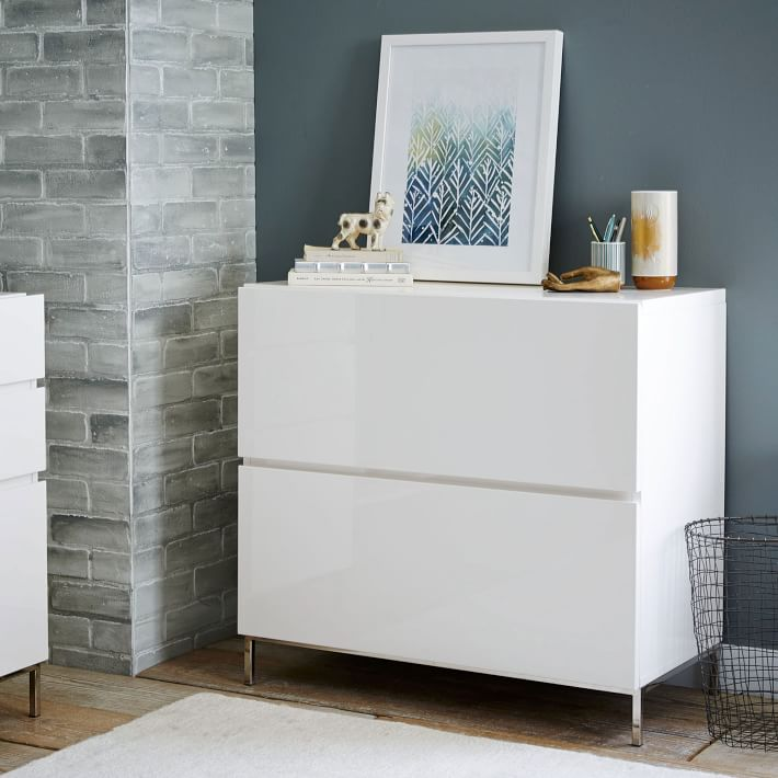 Innovative Lateral File Cabinet With Storage Lacquer Storage Modular Lateral File West Elm