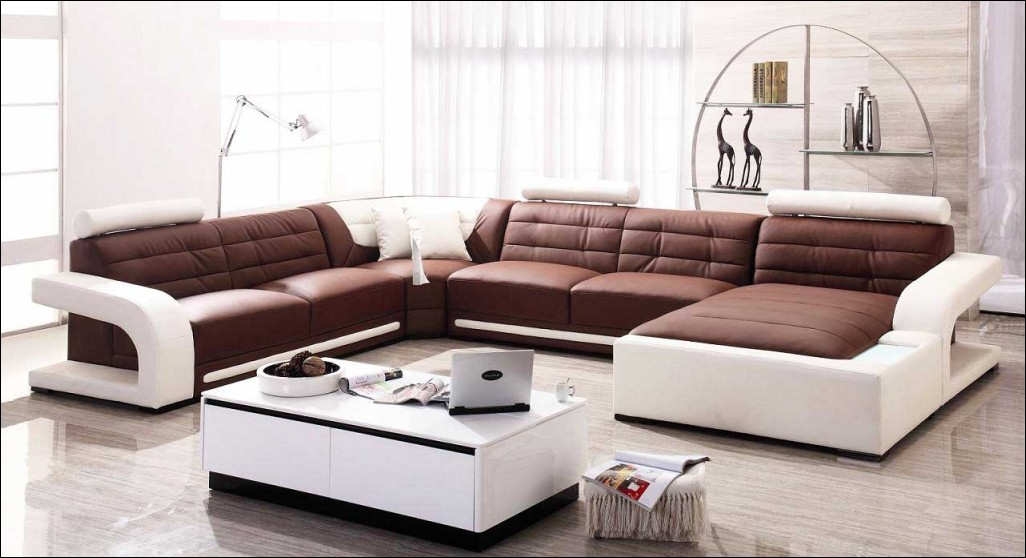 Innovative Leather And Cloth Sectional Furniture Awesome Leather And Cloth Sectional Sofas Small