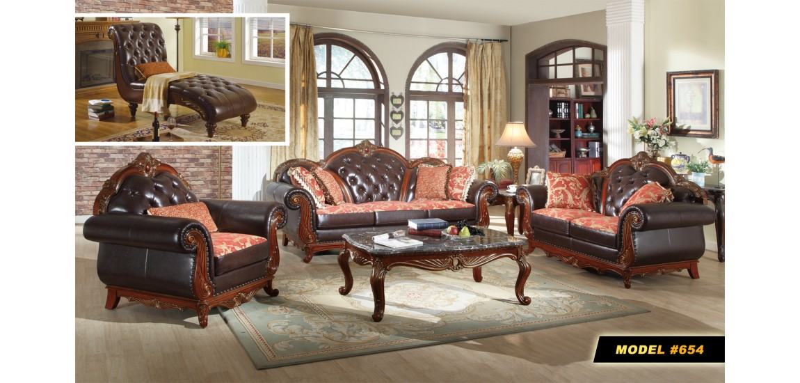 Innovative Leather And Wood Living Room Sets Cherry Wood Trim Black Leather Living Room Set 654