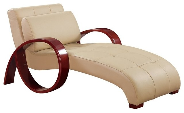 Innovative Leather Chaise Lounge Chairs Indoors Al Cappuccino Leather Lounge Chair Contemporary Indoor Chaise