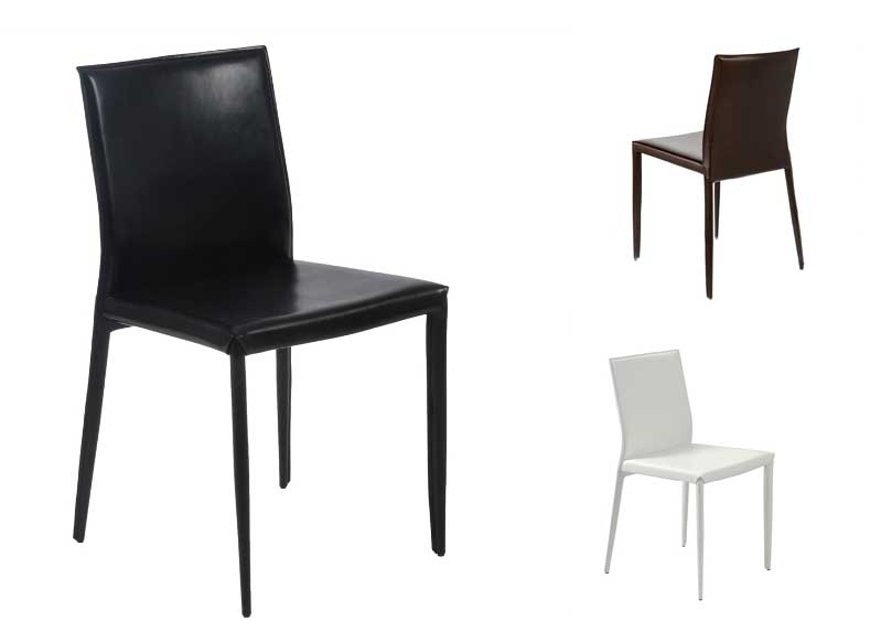 Innovative Leather Covered Dining Chairs Shen Leather Dining Chair Modern Chairs
