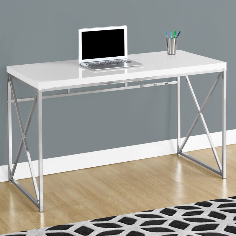 Innovative Metal Computer Desk Metal Desks Youll Love Wayfair