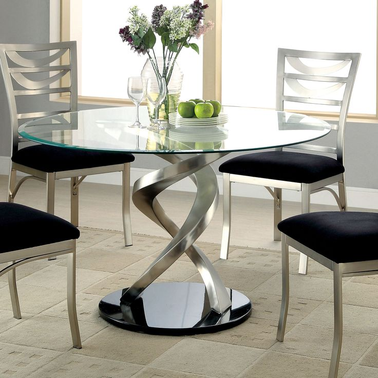 Innovative Modern Glass Round Dining Table Best 25 Glass Round Dining Table Ideas On Pinterest Round Glass