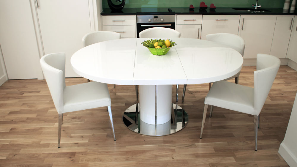 Innovative Modern Round Extendable Dining Table White Extendable Round Dining Table Home Ideas Collection