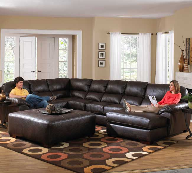 Innovative Oversized Sectionals With Chaise Latest Leather Sectional Sofa Chaise Jackson Lawson 4243 Sectional
