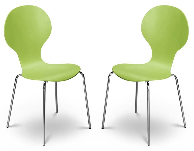 Innovative Pair Of Dining Chairs Kimberley Lime Green Chrome Dining Chairs Sale Now On Your Price