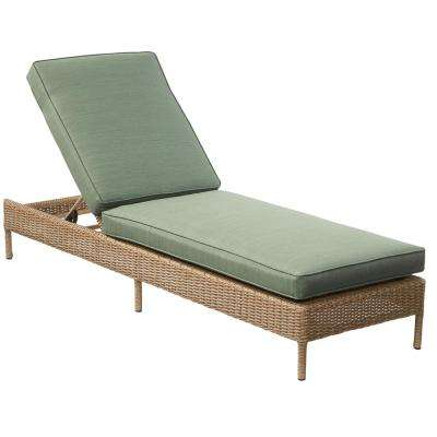 Innovative Patio Chaise Lounge Chair Hampton Bay Green Patio Chairs Patio Furniture The Home Depot