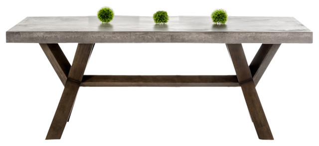 Innovative Rectangle Dining Table Modrest Urban Concrete Rectangular Dining Table Transitional